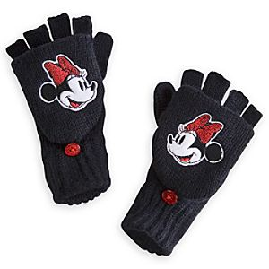 Minnie Mouse Gloves for Girls - Fingerless