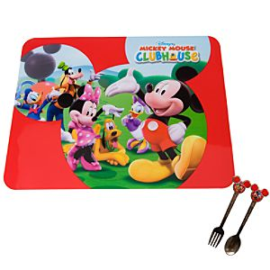 3-Pc. Mickey Mouse Placemat & Flatware Set
