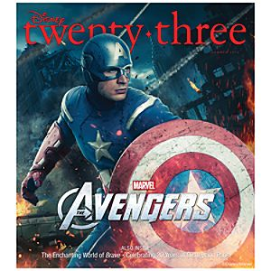 D23 Disney twenty-three Summer 2012 Magazine -- Captain America -- Membership Exclusive Cover