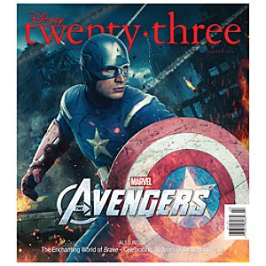 D23 Disney twenty-three Summer 2012 Magazine - Captain America Cover