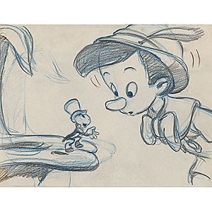 Pinocchio Pencil Sketch Print - D23