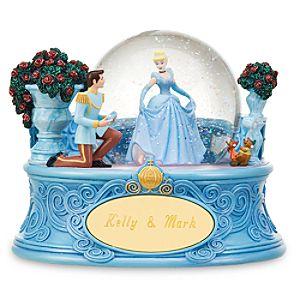 Personalized Cinderella Snow Globe