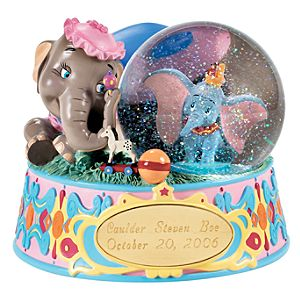 Personalized Mrs. Jumbo and Dumbo Snow Globe