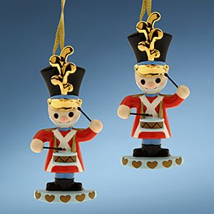 WDCC Toy Soldier its a small world Ornaments -- Set of 2