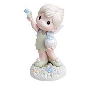Always Reach for the Stars Disney Girl Dressed As Fairy with Tinker Bell Figurine by Precious Moments