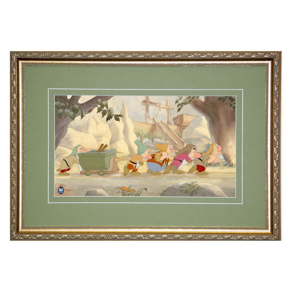 Seven Dwarfs ''Hard at Work'' LE Framed Gicleée on Paper