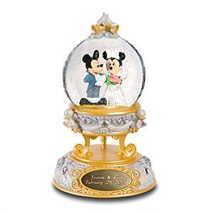 Personalized Mickey And Minnie Wedding Snow Globe