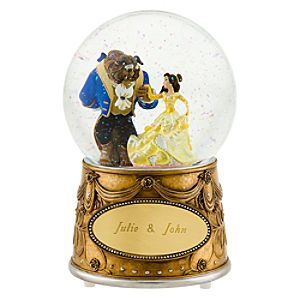 Personalized Beauty and the Beast Snowglobe