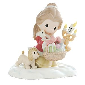 Belle It Is in the Giving That We Receive Christmas Figurine by Precious Moments