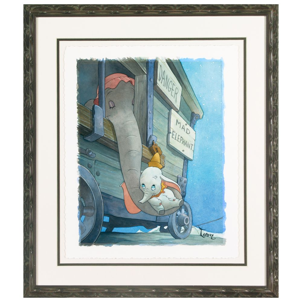 Framed Limited Edition ''Baby Mine'' Dumbo Giclée