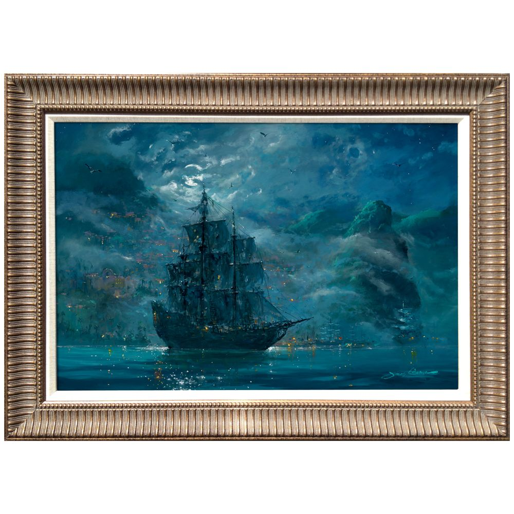 Framed Limited Edition ''Moonlit Pearl'' Pirates of the Caribbean Giclée