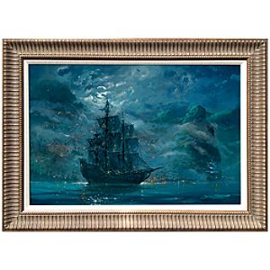 Framed Limited-Edition ''Moonlit Pearl'' Pirates of the Caribbean Giclée