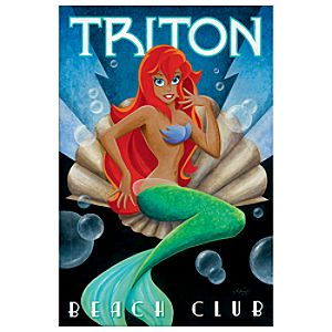 Limited Edition ''Triton Beach Club'' Ariel Giclée
