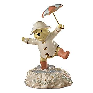 Musical Poohs Singing in the Rain Figurine by Lenox