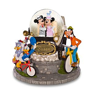 Personalized Nifty Nineties Mickey Mouse Snowglobe