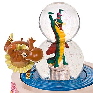Hyacinth Hippo and Ben Ali Gator Fantasia Snow Globe