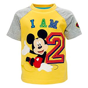 disney store mickey mouse 39 i am 2 39 t shirt for kids customer review. Black Bedroom Furniture Sets. Home Design Ideas
